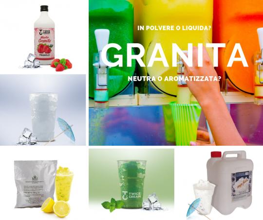 Granita in polvere o liquida? Neutra o aromatizzata?